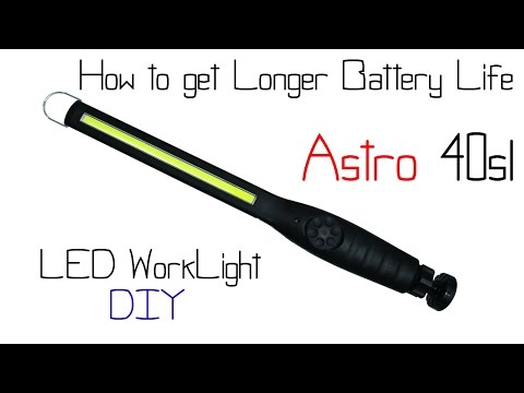 Astro 40sl LED Worklight - How to get Better Battery Life with this one upgrade
