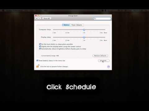 Schedule Start Up and Shut Down Times Mac!