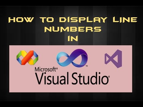 How to display the line numbers in visual studio !