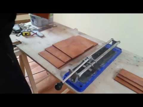 How to Cut Porcelain Ceramic Tiles - Make Baseboard Tiles (Great Tip)