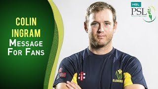 Colin Ingram is ready to make an impression in the HBL PSL