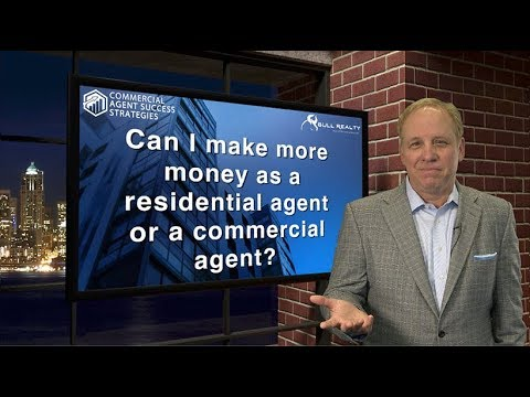 Can I make more money as a residential agent or a commercial agent?