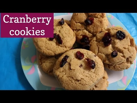 SOFT AND CHEWY CRANBERRY COOKIES(EGGLESS) recipe