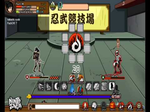 Ninja Saga Live PvP Battle Number 1