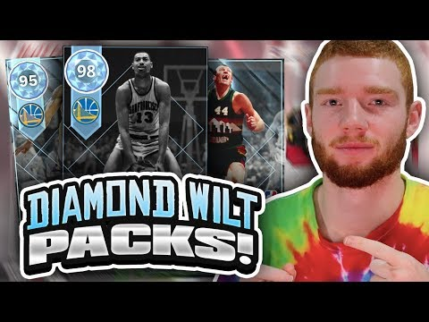 TWO NEW DIAMOND PULLS! WILT CHAMBERLAIN THROWBACK PLAYOFF MOMENTS PACK OPENING!! (NBA 2K18 MYTEAM)