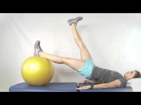 Bridges On Physioball Alternating Leg Lifts