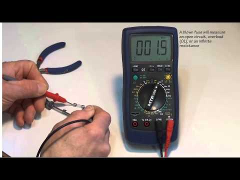 How to change the fuses in a DMM or Digital Multimeter