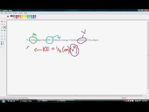 Kinetic Energy - Finding Velocity.avi