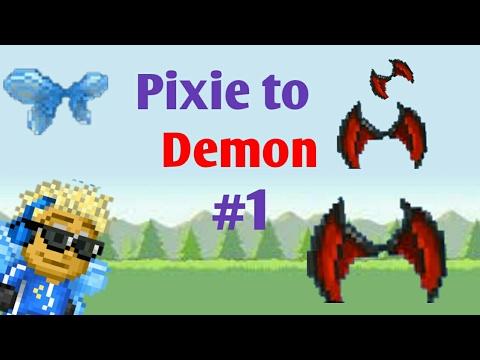 Pixel Worlds - Pixie to Demon #1 | GOT DEMON WINGS!!