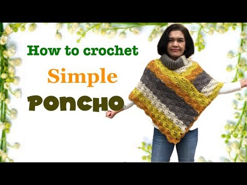 How to crochet simple Poncho