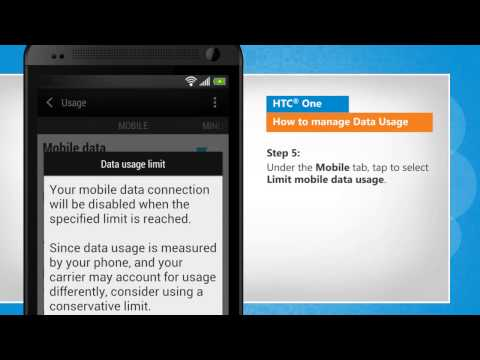 How to Manage Data Usage in HTC® One