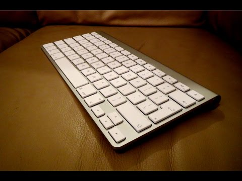 Apple Wireless Keyboard Review + unboxing + Setup