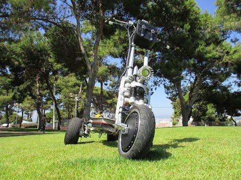 Custom build tilting electric scooter