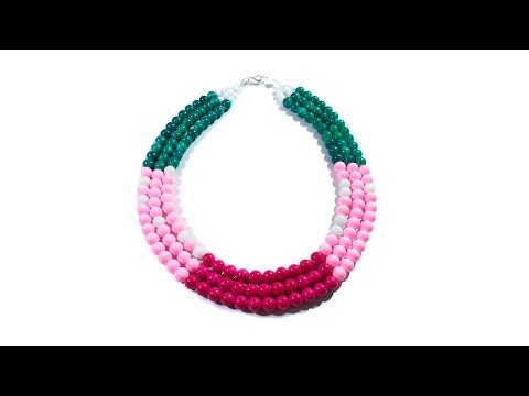 Multi Layer Beads Necklace Tutorial Quick And Easy