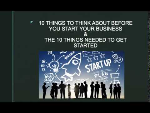 10 Things that you need to know before you start your business pt 1