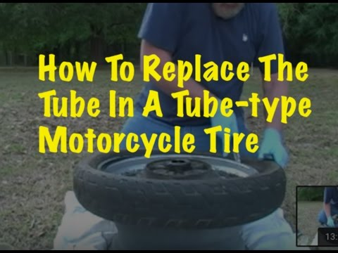How To Change A Tube-Type Motorcycle Tire By Hand
