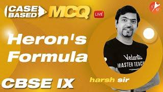 Heron's Formula Class 9 [Case Based MCQ's]   CBSE 9 Maths Chapter 12 (Term 1 Exam)   Vedantu 9 & 10
