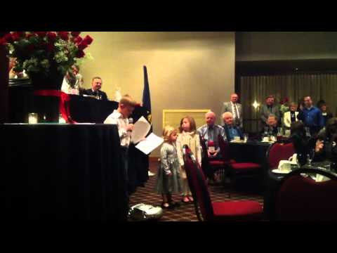 Wayne Pagel's Grandkids Sing Auctioneer to him at his Hall of Fame Induction