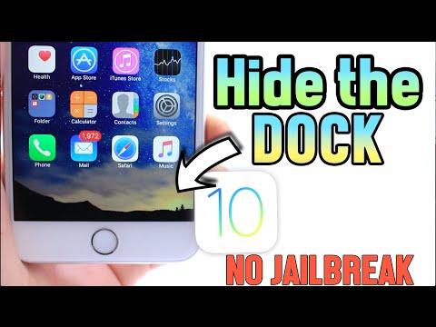 How to Hide the Dock in iOS 10 Beta 1 No Jailbreak