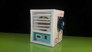 How to make a Portable 12 Volt air conditioner without using ice (Low Cost)