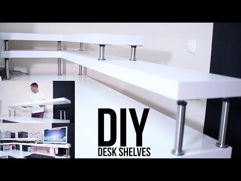 DIY DESK SHELVES | ON A BUDGET !!!