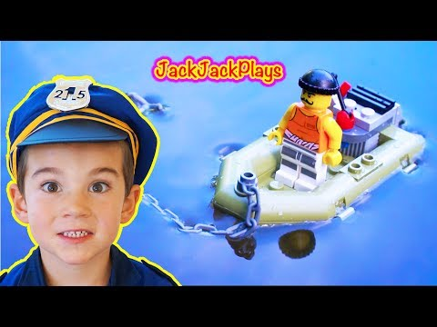 Lego City Police - Playing with Legos - Prison Island Toy Review and Build