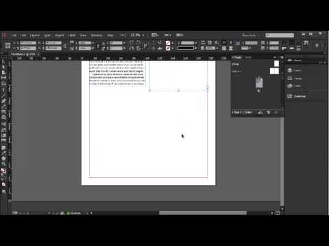 Linking text boxes, changing case & find/change - InDesign CC Tutorial [15/20]