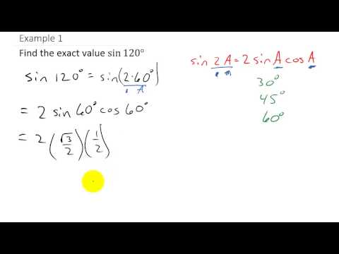 Trigonometry - Finding Exact Value Using Double Angle Identities