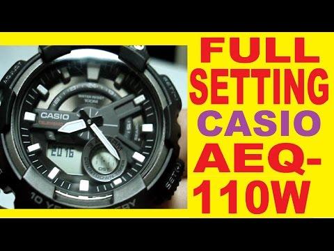 Setting Casio AEQ-110W