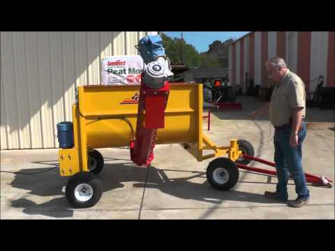 YJ1 One yard soil mixer with AUGER and  portable