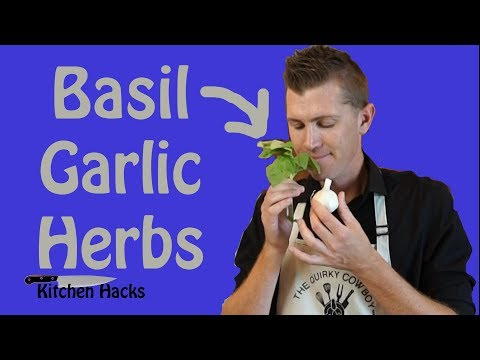 Basil & Garlic - How to Cut, Slice, Mince and Chop Herbs Without Bruising