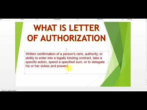 What is letter of Authorization in GST. Letter of Authorization form Pattern
