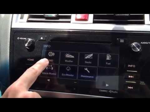 2015 Subaru Outback and Legacy Infotainment