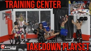 WWE FIGURE INSIDER: WWE Training Center Takedown Playset by Mattel Wrestling Figure RSC Review