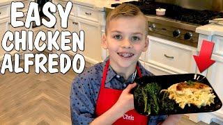 Download Kid Size Cooking: Best Chicken Fettuccini Alfredo Video