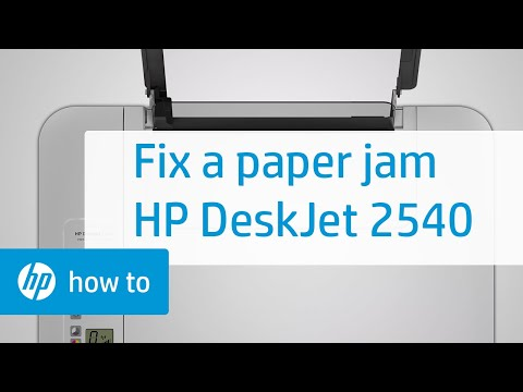 Fixing a Paper Jam - HP Deskjet 2540 All-in-One Printer