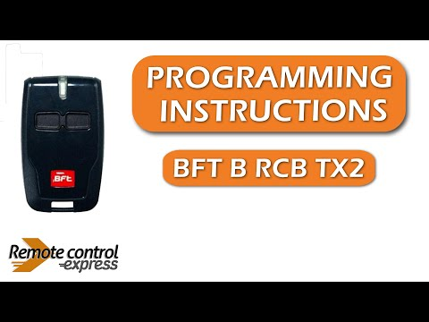Programming my remote BFT B RCB TX2