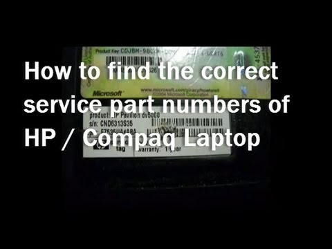 How to find HP motherboard part number