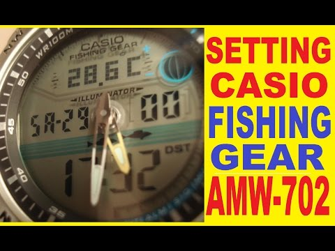 Setting Casio AMW-702 How to set time