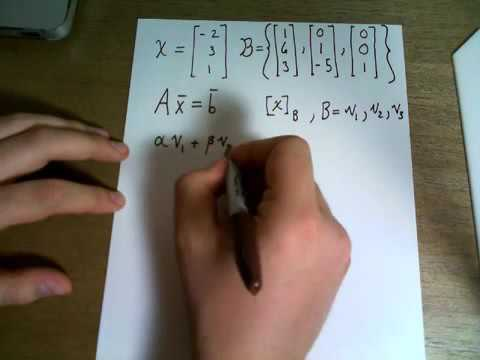 Find the coordinate vector of x = {-2, 3, 1} with respect to the basis B = or R3