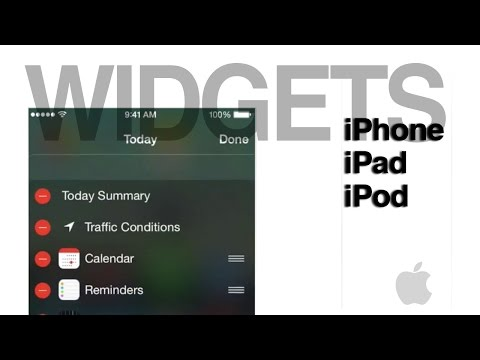 How to Add and Delete Widgets Notification center in iPhone iPad iPod