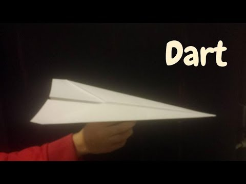 How To Make The Paper Airplane-Dart