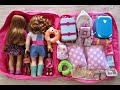Download Baby Doll Travel Routine, Suitcase and Dress up! AG Doll Clothes u0026 Travel Luggage Accessories MP3,3GP,MP4