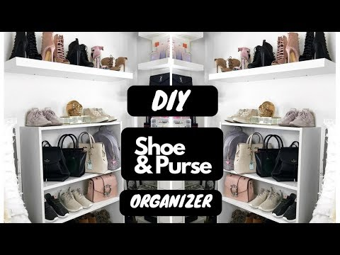 DIY Heels  and Handbags Organizer