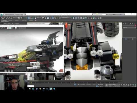 Lego Batman 2017 - Batmobile Modeling Tutorial - Part 11