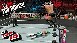 WWE 2K17 - Top 10 Best Top Rope Dives   WWE 2K18 Countdown
