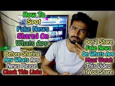 How To Spot Fake News, Don't Share Fake News, It Will Create Problem😱