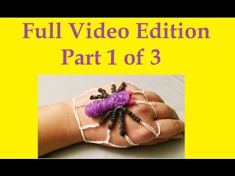 How to make a Spider Rubber Band Bracelet: No Rainbow Loom Needed (VIDEO 1 of 3)