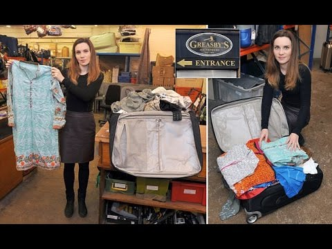 Every fortnight dozens of suitcases left at Heathrow are sold at auction  So did we find designer ge