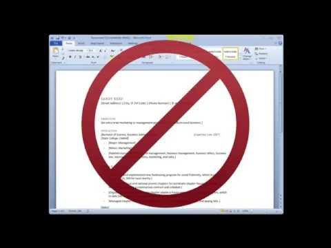How to write a resume WITHOUT Microsoft Word